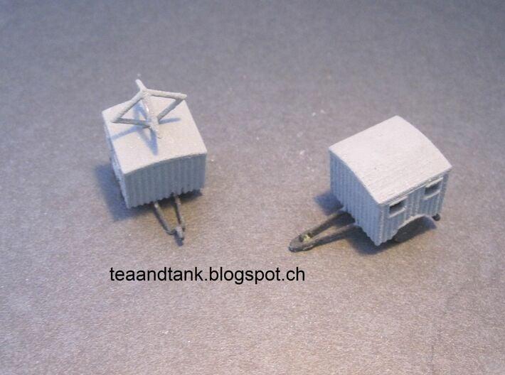 1/144 Luftwaffe radio trailer set 3d printed