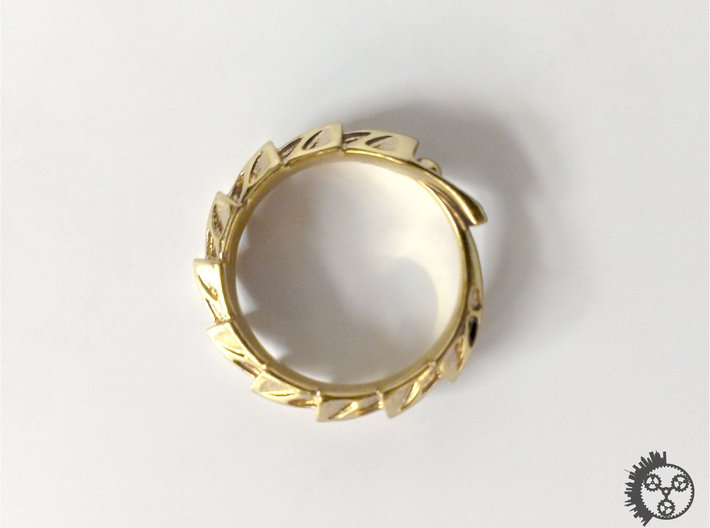 Carapace Ring 3d printed Carapace Ring - Polished Brass Top