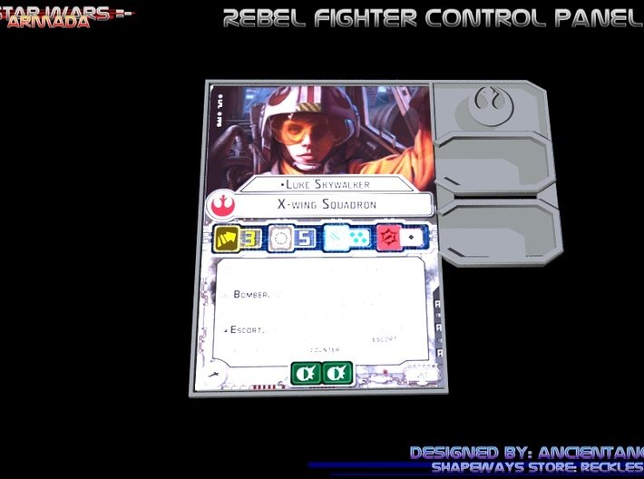 Rebel Fighter Control Panel 3d printed
