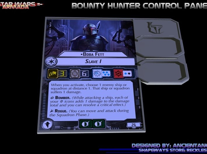 Bounty Hunter Control Panel 3d printed