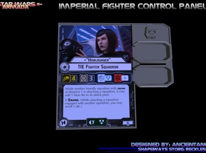 Trooper Fighter Control Panel 3d printed