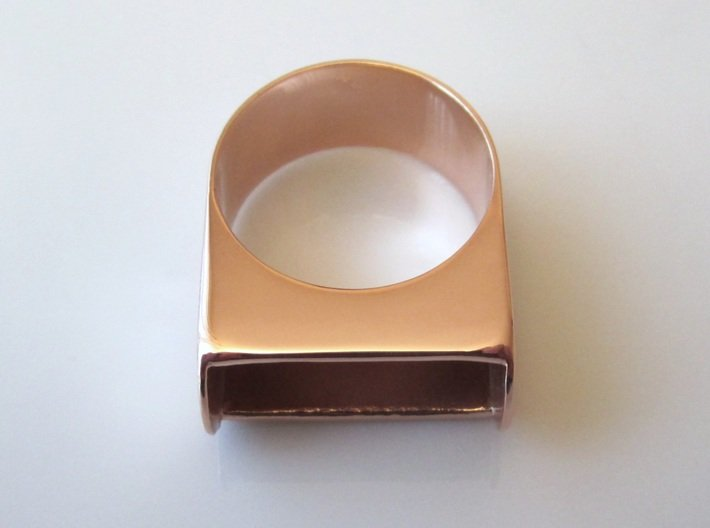 Box for Compact Pillbox Ring - size 10 3d printed