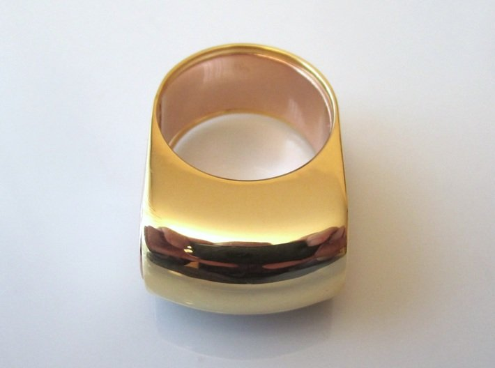 Box for Compact Pillbox Ring - size 10 3d printed The two parts together