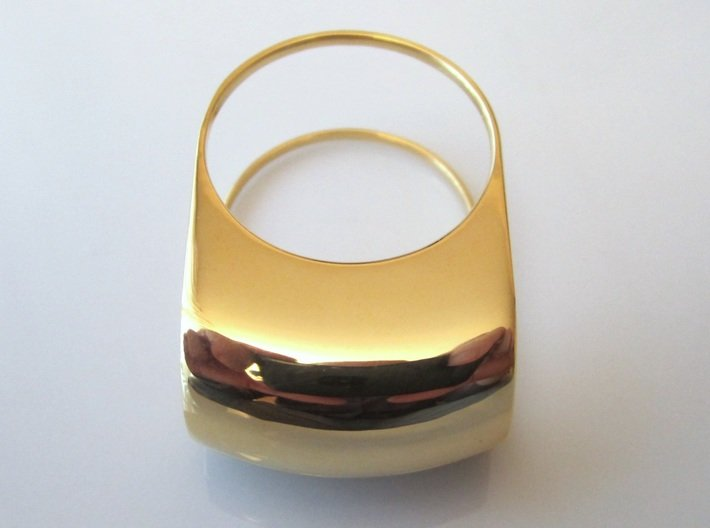 Lid for Compact Pillbox Ring - size 10 3d printed