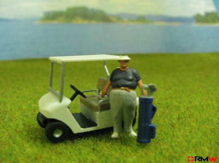 HO/1:87 Golf cart, kit 3d printed [en]Diorama suggestion [de]Gestaltungsvorschlag