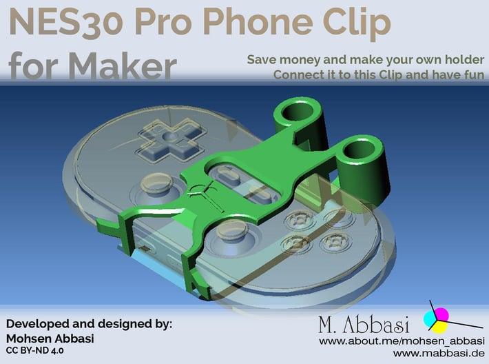 NES3 Pro Phone Clip Maker Edition 3d printed