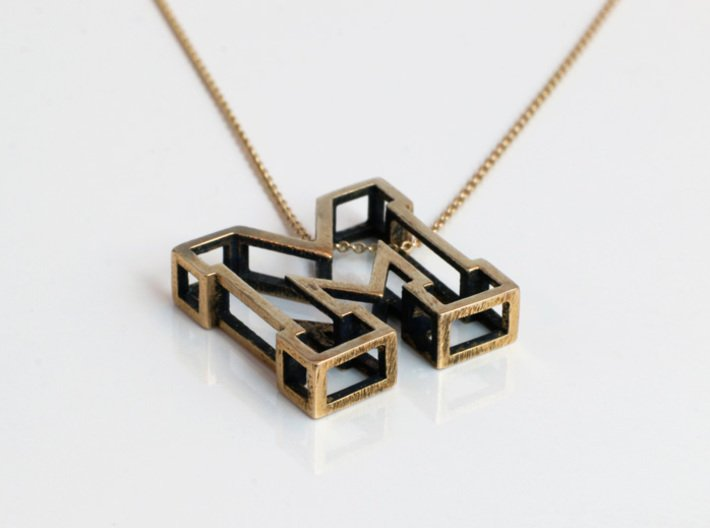 Small Letter M Pendant 3d printed