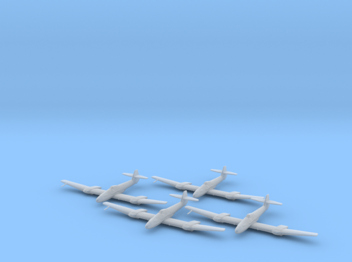 Blohm & Voss BV-155 1:200 x4 FUD 3d printed