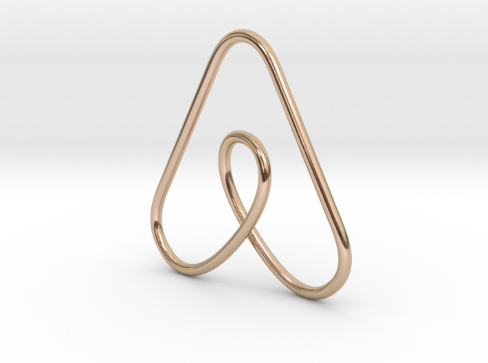 Airbnb Keychain 3d printed
