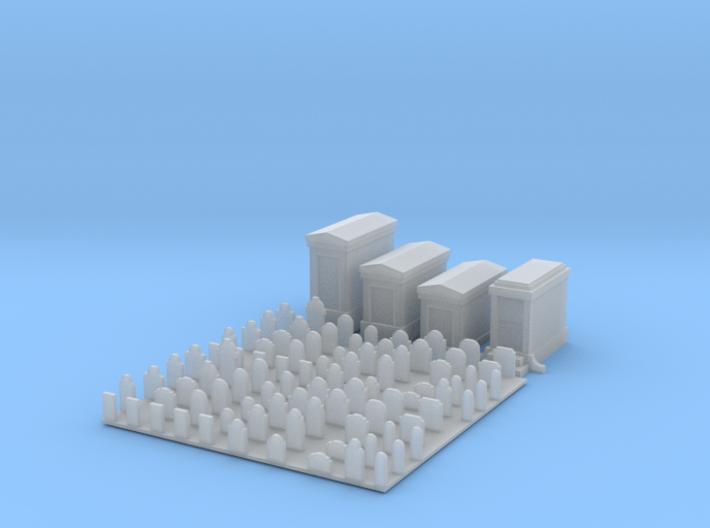 N Scale (1:160) Cemetery 3d printed