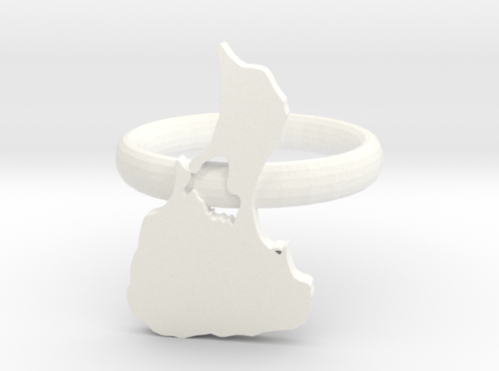 3D Printed Block Island Napkin Ring  3d printed