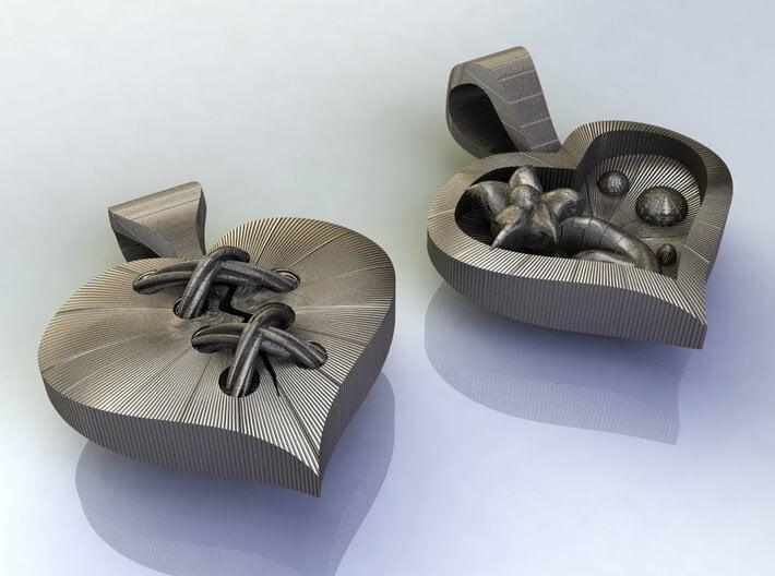 Broken Hearts Pendant 3d printed