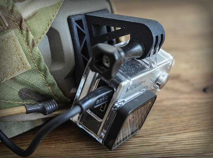 Wilcox NVG Mount for GoPro Camera Hero 2, 3, and 4 3d printed