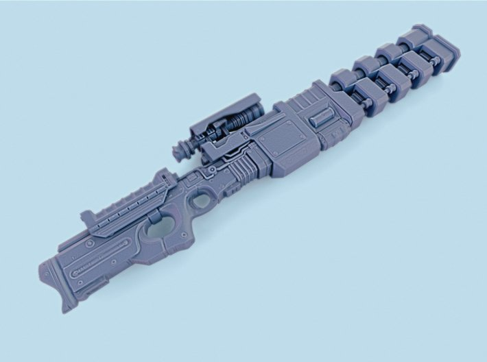 1/6th Scale Railgun Extended (7.84inches) 3d printed