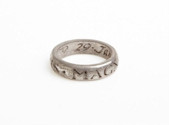 Sir Francis Drake Ring - Uncharted 3 Version 3d printed U3 ring in polished nickel steel