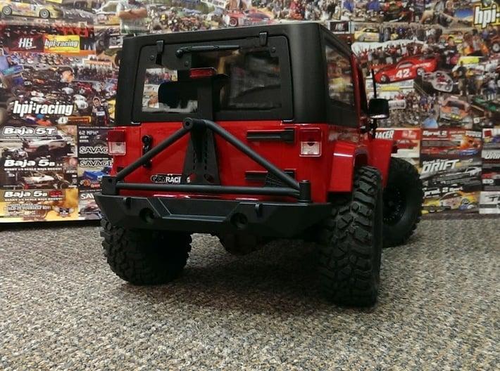 Skeleton Rear Body Bumper Mount Set 3d printed