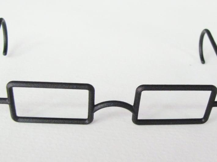 "Mrs. Beasley Glasses for 21"" Doll 3d printed Black Rough"