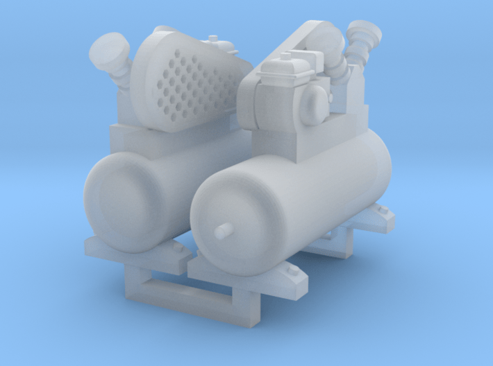 Air Compressor 2 Pack 1-87 HO Scale 3d printed