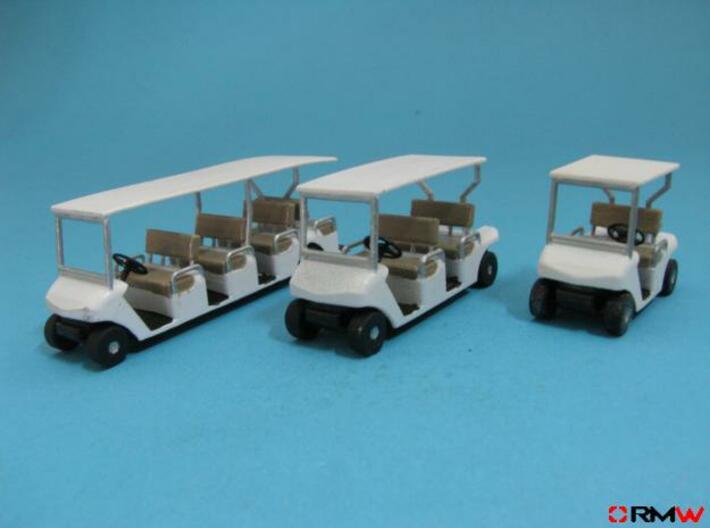 HO/1:87 Golf cart, kit 3d printed [en]painted and assembled [de]bemalt und gebaut