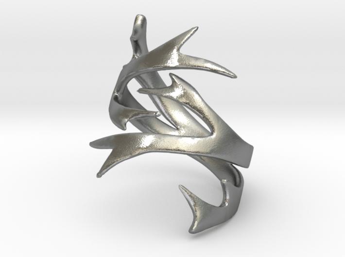 Antler Ring Size 7 3d printed
