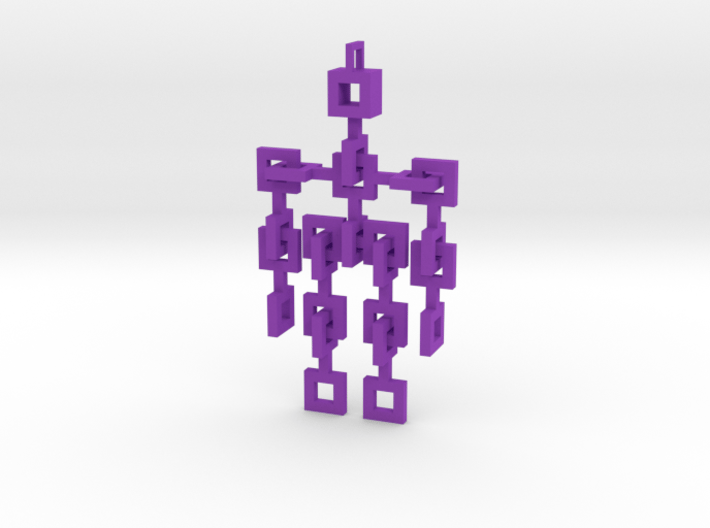Squared Little Man - Articulated 3d printed