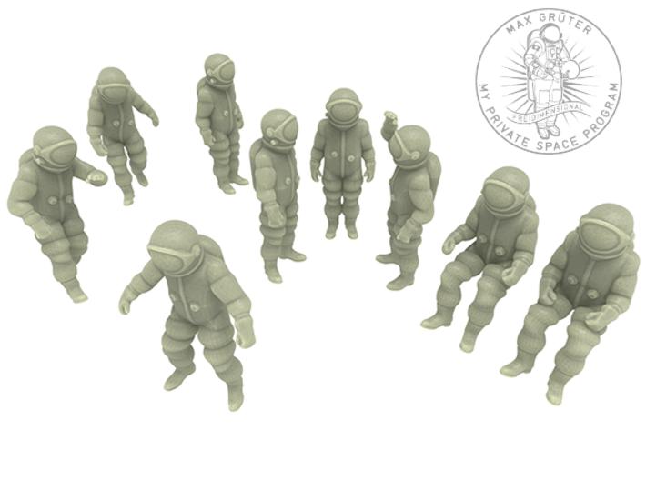 Generic Astronauts Set / 1:72 3d printed