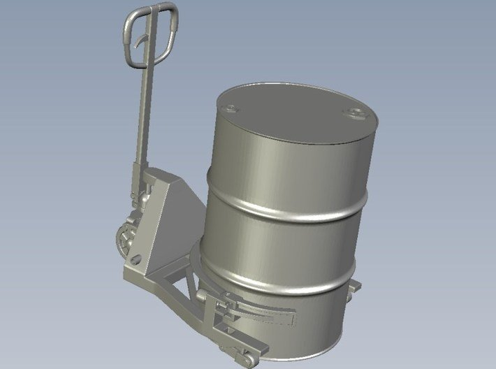 1/24 scale 55 gallons oil drum hydraulic lift jack 3d printed