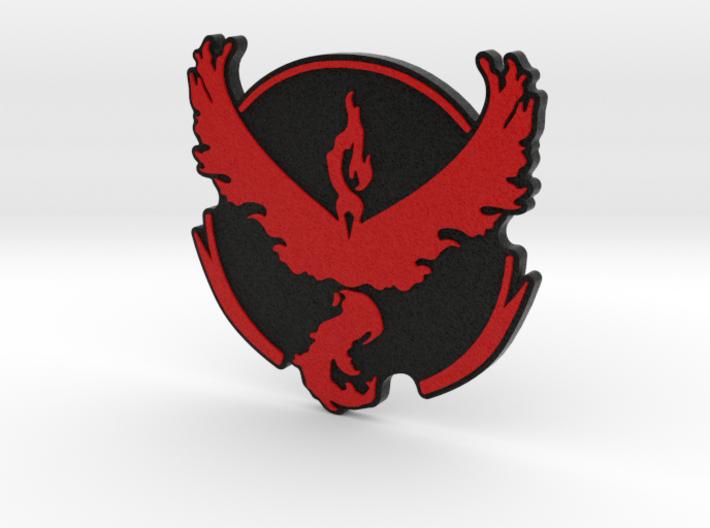 Pokemon Go - Team Valor Badge 2 3d printed