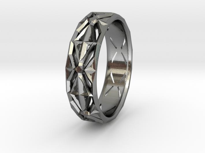 Cut Facets Ring Sz. 4.5 3d printed