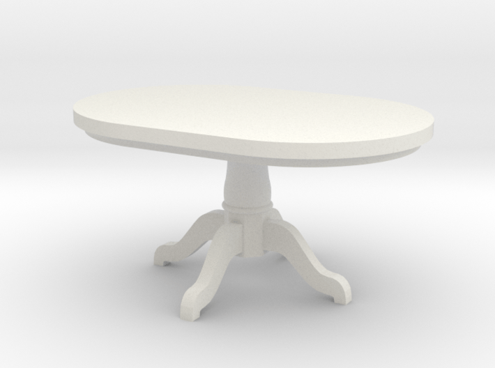 1:48 Pedestal Dining Table 3d printed