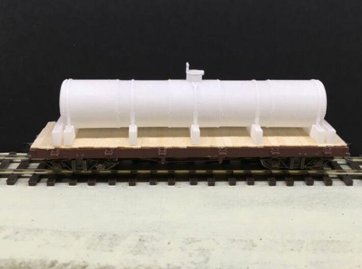 HOn3 - SPC Oil / Molasses Tank 3d printed Tank shown on a flat car