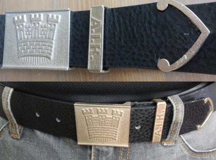 Castle belt buckle 3,7 cm 3d printed AIK bälte stål
