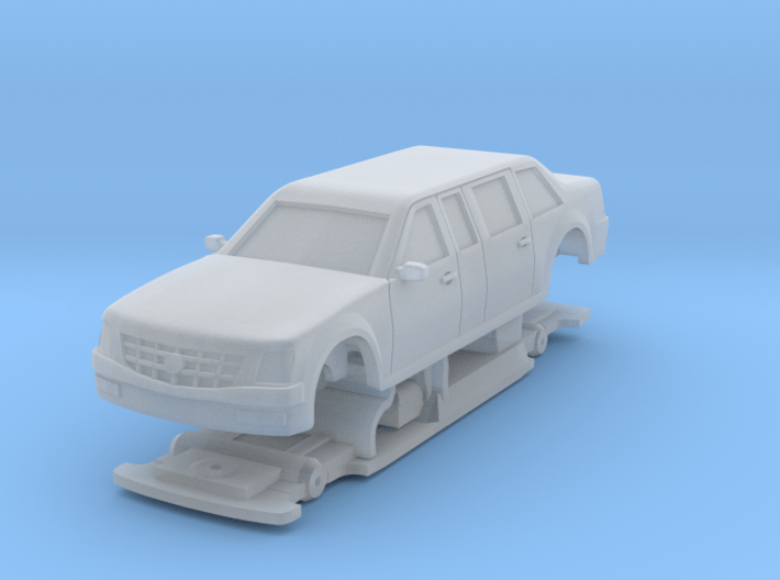 """1/87 Scale Presidential Limo """"The BEAST"""" 3d printed"""