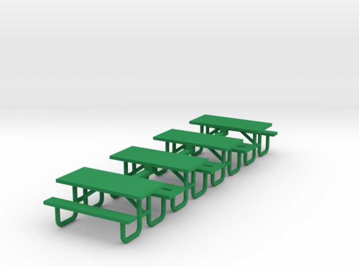 Picnic Table 6ft Metal Ftame - HO 87:1 Scale Qty ( 3d printed