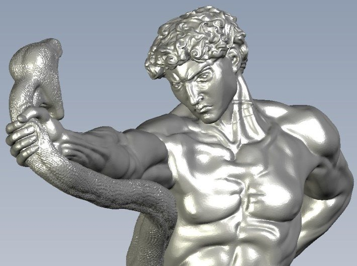 1/15 scale Hercules VS python snake figure (Z89SBFBH7) by