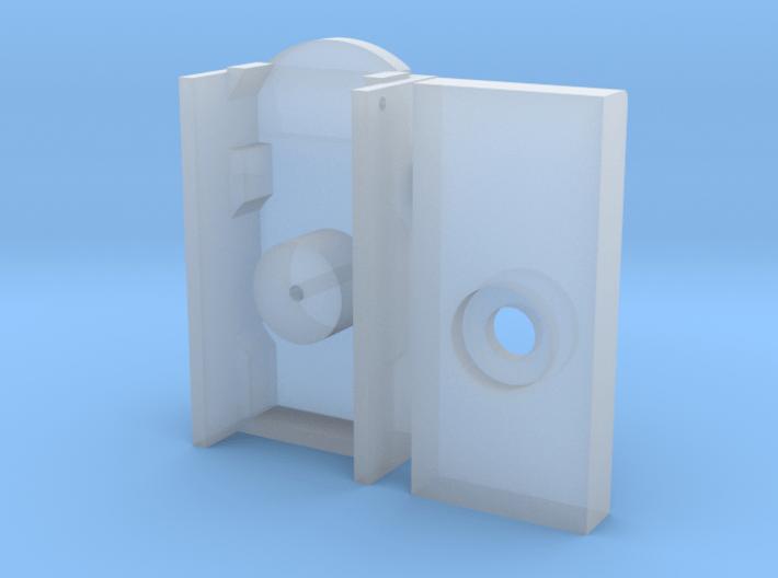 HO SW-1 Coupler Buffer Plate Draft Gear Box 3d printed
