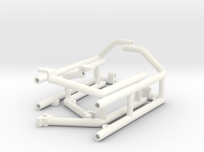 FA30004 Desert Patrol Vehicle Side Racks 3d printed Parts as they come from Shapeways
