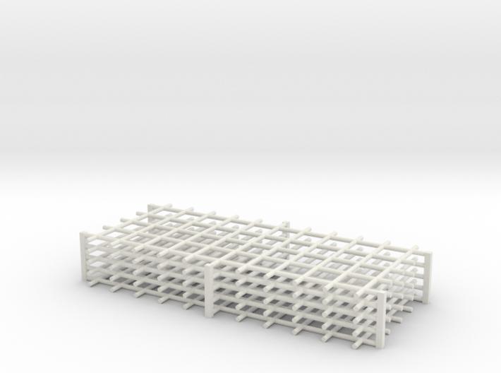 Rebar Grid 4 Feet x 10 Feet 1-87 HO Scale 3d printed
