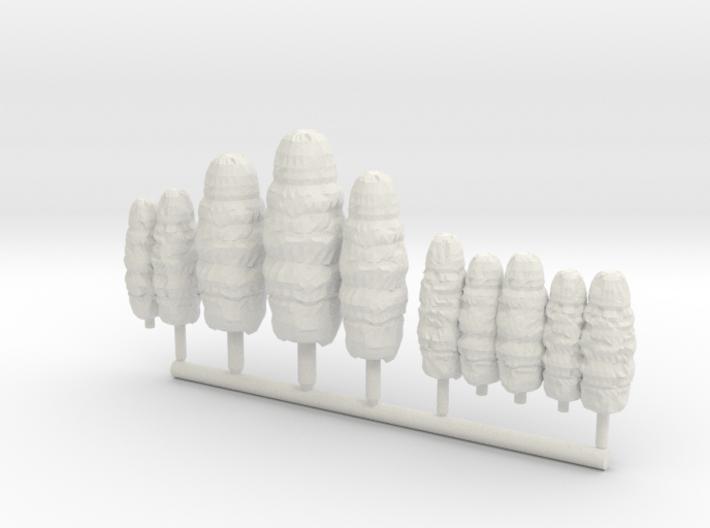 SET 10x Conifers (N 1:160 - TT 1:120) 3d printed