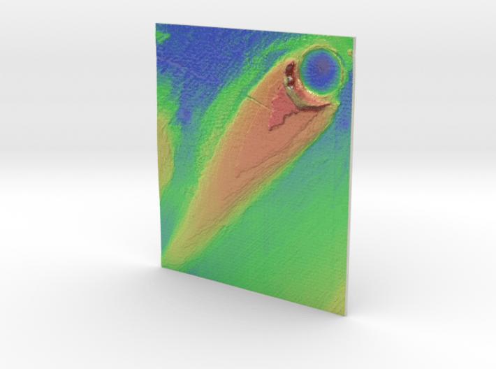 Mars Map: Ring And Cone - Vivid 3d printed