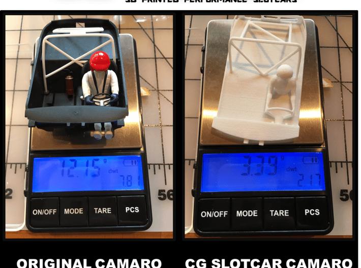 Scalextric '69 Camaro Cockpit 3d printed