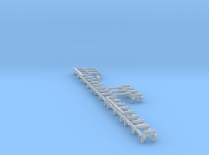 HO Roller Tables with Transfer Beams 3d printed