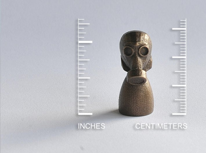 Gas Mask Piece 3d printed Matte Bronze Steel