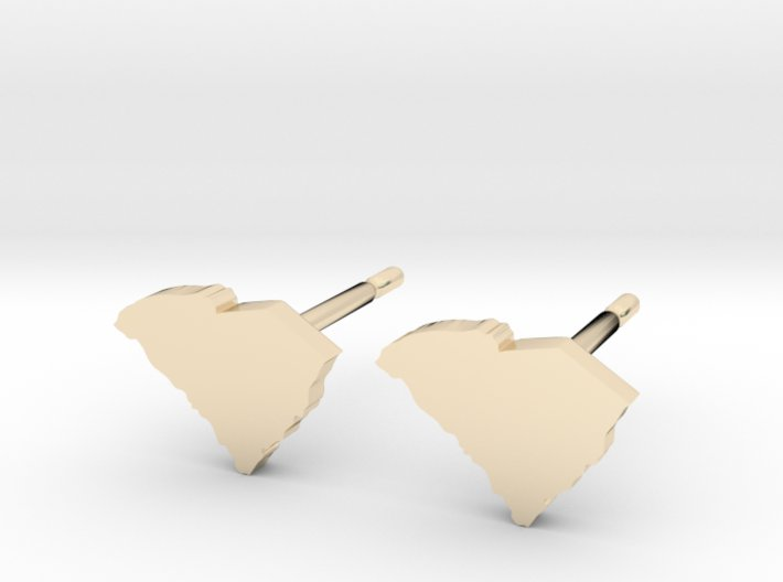 South Carolina State Earrings, post style 3d printed