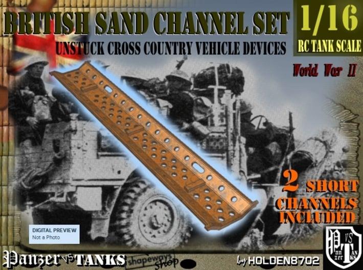 1-16 2xBritish Sand Channel Short 3d printed