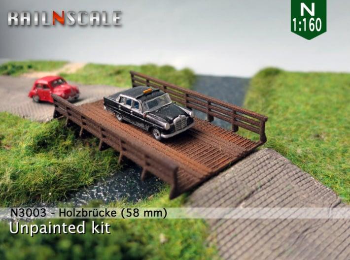 Autobrücke 58 mm (N 1:160 / TT 1:120) 3d printed