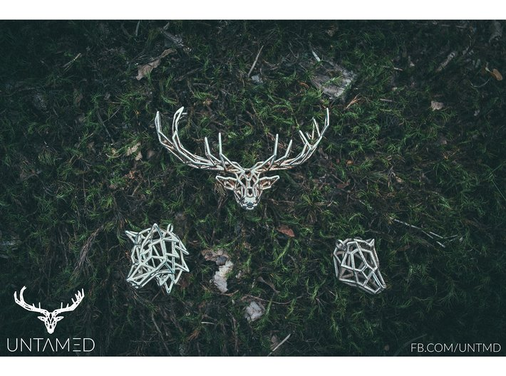 Untamed: The Wolf Pendant 3d printed