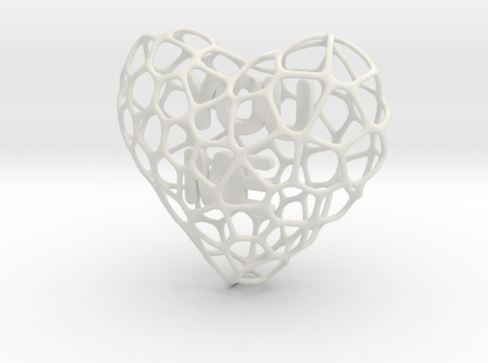 Voro-Heart 80mm 3d printed