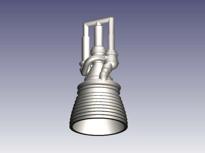 J-2 Engine (1:200) for Saturn IB or V 3d printed J-2 Engine in 1:200 Scale (CAD Rendering)