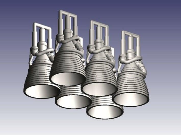 J-2 Engines (1:200 Set of 6) 3d printed